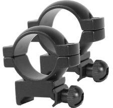 """Weaver Style Matte Black High Ring Set for 1"""" Dia. Scopes"""