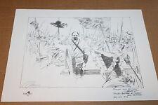 DALE GALLON signed CIVIL WAR PENCIL PRINT for FNPG GENERAL ARMISTEAD at CUSHING