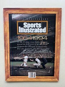 Sports Illustrated 40th Anniversary of 1st Issue Eddie Mathews Signed Magazine.