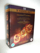 The Hunger Games, Catching Fire, Mockingjay (3-Disc Blu-ray, Box Set)
