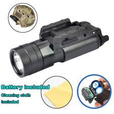 500Lumen Tactical Flashlight LED light + picatinny rail pistol Rifle Hunting p