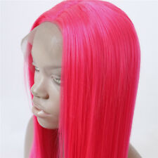 AU STOCK Cosplay Pink Synthetic Wigs Silky Straight Heat Safe Lace Front Wig
