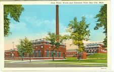 BAY CITY,MICHIGAN-NEW WATER WORKS & FILTRATION PLANT-LINEN-(62211C)(MICH-B*)
