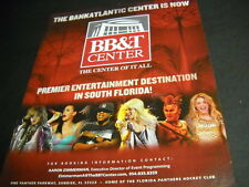 Steven Tyler Katy Perry Jay-Z others 2012 Bb&T Center Promo Poster Ad