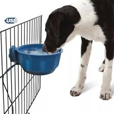 Heated Pet Feeder Hanging Heating Dog Water Bowl for Dogs, Cat, Rabbits, Chicken