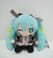 "Hatsune Miku Vocaloid 10th Anniversary Taito Plush 6"" TAG Toy Doll Japan"