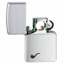 Zippo Genuine Brushed Chrome Windproof Refillable Insert Pipe Lighter 200PL 1392