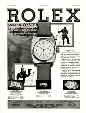 Original French Vintage Advert Ad - ROLEX - Watch Horology Oyster - 1932