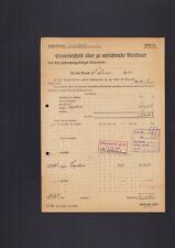 RUDOLSTADT, Steuerbescheid 1941, Bier-Steuer