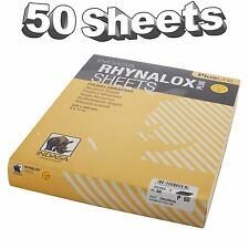 Indasa Rhynalox Plusline Production Paper P60 grit Sand Paper Sheets Pack 50
