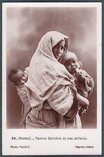 MAROCCO Maroc COSTUME 03 ETHNIC ETNIQUE COSTUMI COSTUMES - MATERNITÀ REAL PHOTO