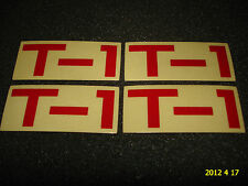 """4 AUTHENTIC SMALL TERRIBLE ONE """"T-1"""" BMX BICYCLES STICKERS / DECAL #28 AUFKLEBER"""