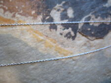"10 KT White Gold Cable Link Chain Necklace 18"" SUPER Thin/Fine Delicate...NEW***"