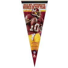 "ROBERT GRIFFIN III RG3 ROOKIE OF THE YEAR FELT PREMIUM PENNANT 12''x30"" WINCRAFT"