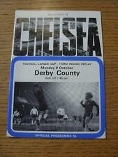 09/10/1972 Chelsea v Derby County [Football League Cup Replay] (Folded). Item In