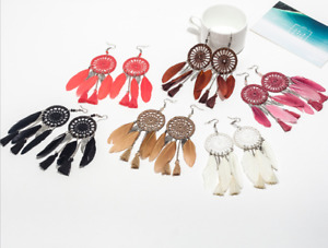 Women Fashion Rhinestone Long Tassel Hook Fringe Dangle Drop Earrings UK