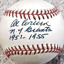 AL CORWIN (D.2003) N.Y. GIANTS 1951-1955 SIGNED ONL BASEBALL CERTIFIED PSA/DNA