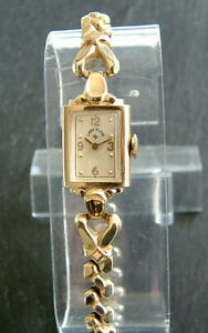 Vintage Ladies Art Deco 1947 14ct Gold Filled LADY ELGIN Wristwatch; Serviced