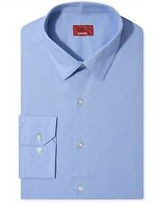 NWT $79 ALFANI Men SLIM FIT BLUE LONG SLEEVE CASUAL DRESS SHIRT 15-15.5 32/33 M