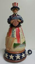 "MIB Jim Shore 2014 ""FREEDOM FOREVER"" Musical Patriotic Uncle Sam #4044669"