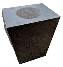 """Granite Cemetery Vase Jet Black (8""""x6""""x10"""")"""