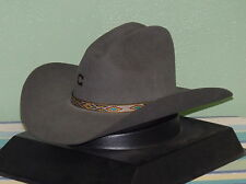 CHARLIE 1 HORSE SLOPED CROWN RUN AWAY GREY COWBOY WESTERN HAT