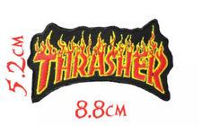 Quality Iron/Sew on Thrasher biker concert logo flame magazine concert patch