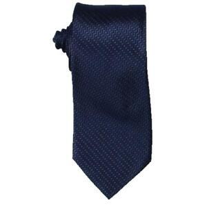 Michael Kors Mens Navy Satin Striped Business Neck Tie O/S BHFO 5369