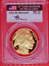 2006-W $50 AMERICAN GOLD BUFFALO - PCGS PR70DCAM - SIGNED MERCANTI - POP 19