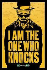 BREAKING BAD - TV SHOW POSTER / PRINT (I AM THE ONE WHO KNOCKS / HEISENBERG)