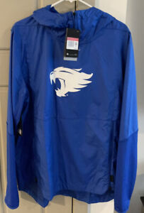 Mens Nike Royal Kentucky UK Sideline Pullover Hooded Jacket LARGE REPEL PLAYER