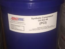 AMSOIL Compressor Oil ISO 46 / SAE 20 - 5 Gallons Pail. Direct From USA