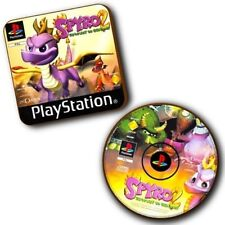 Spyro The Dragon 2 PlayStation PS1 Box Art + Disc Art - Wood Coasters - Set Of 2