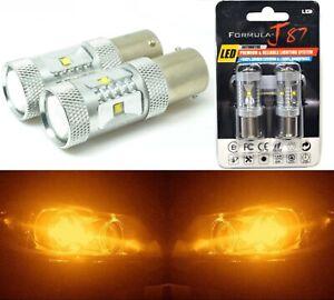 LED Light 30W PY21W Amber Orange Two Bulbs Front Turn Signal Replacement Lamp OE