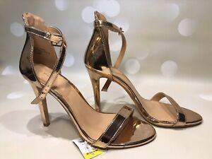 *NEW* Ladies Size 6 Papaya Rose Gold Strappy Stiletto Sandals