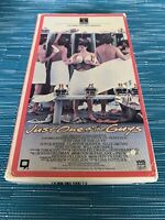 Just One Of The Guys VHS Tape Cult Sex Comedy Teen Romp HTF VTG Rare Sideflap
