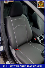 Black Eco-Leather Tailored Full Set Seat Covers Nissan Qashqai 2007-2013
