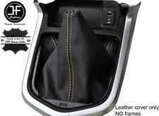 Beige Cuero Cosido Manual Gear gaiter se ajusta Navara NP300 D23 2015-2017