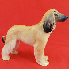 """AFGHAN Hound Figurine 7"""" tall Porcelain Made England NEW NEVER SOLD Hand Painted"""