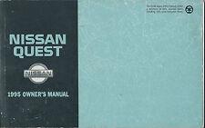 1995 NISSAN QUEST OWNER'S MANUAL OEM