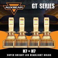 For VW Jetta Passat Golf AUXBEAM H7+H7 180W LED Headlight Bulb Kit High Low Beam