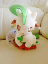 "New 7"" TOMY Leafeon Pokemon Plush / Soft Toy With Tag (UK)"