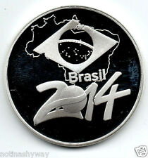 COUPE DU MONDE 2014 Silver Coin Brasil But Football Commerative Medaille Inconnu