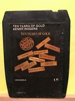 Vintage ~ Ten Years Of Gold by Kenny Rodgers 8-Track Cartridge (1977, United Art