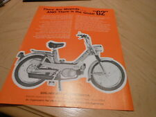 NOS NEW Vintage Brochure Moto Guzzi G2 Moped