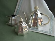 Schönes großes 800er Silber Jugendstil Tee-Service