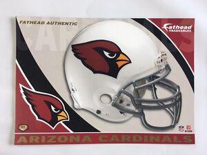 "Arizona Cardinals Helmet Fathead Tradeable 5"" x 7""  team logo - # H1"