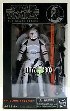 """In STOCK Star Wars Black Series #14 """"Clone Trooper"""" Attack of 6 In Action Figure"""