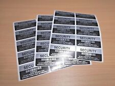 Silver VOID Security / Warranty Tamper Sticker Labels With Serial Number Barcode
