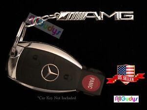 Mercedes-Benz AMG Logo Keychain Key Ring Emblem Chrome